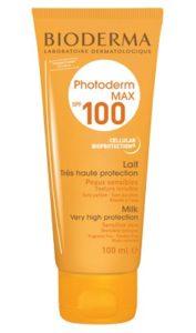 Foto SPF100 zonnefactor de hoogste bescherming die er is!
