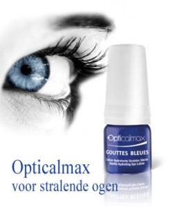 Opticalmax blauwe oogdruppels voor een prachtige glans, tegen droge, rode en geirriteerde ogen